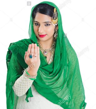 בפקיסטאן ומרכז אסיה נהוגה מחווה המכונה דאאב, במסגרתה כף היד מושטת אל פניו של המברך