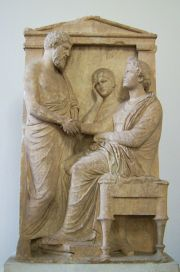 Funerary_stele_of_Thrasea_and_Euandria_Antikensammlung_Berlin_01
